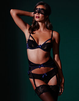 Bluebella Vivienne Satin And Lace Bra