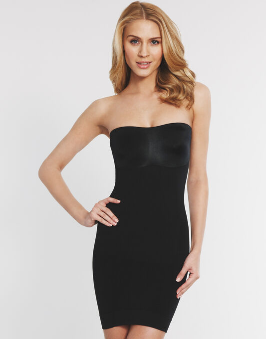 Slimmer And Shine Strapless Slip