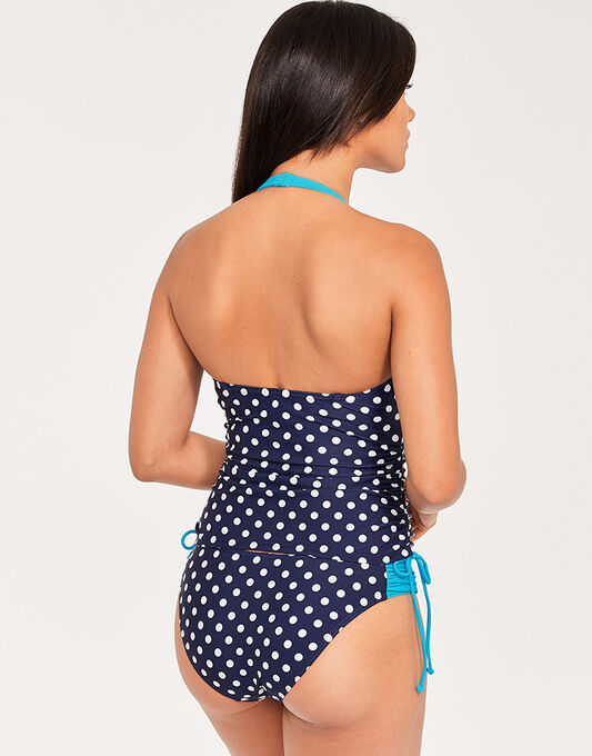 figleaves Tuscany Spot Underwired Halter Tankini Top