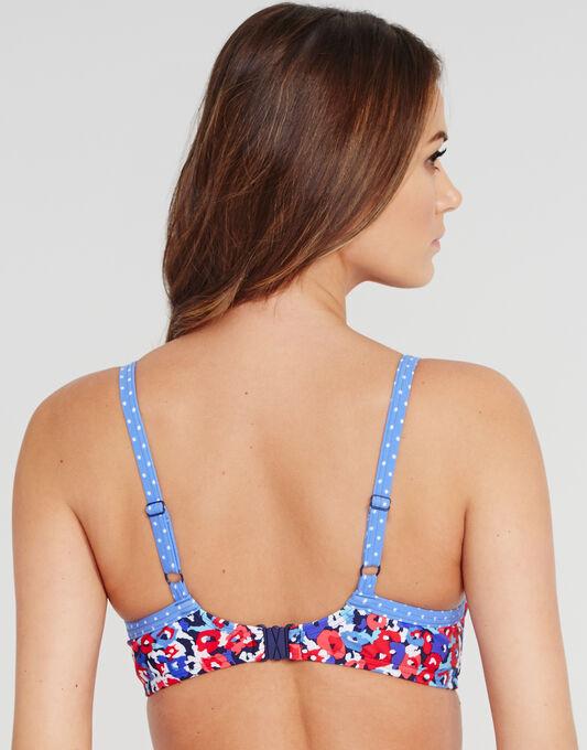 figleaves Sea Breeze Underwired Padded Plunge Bikini Top