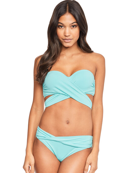 Seafolly Wrap Front Bandeau Bikini Top