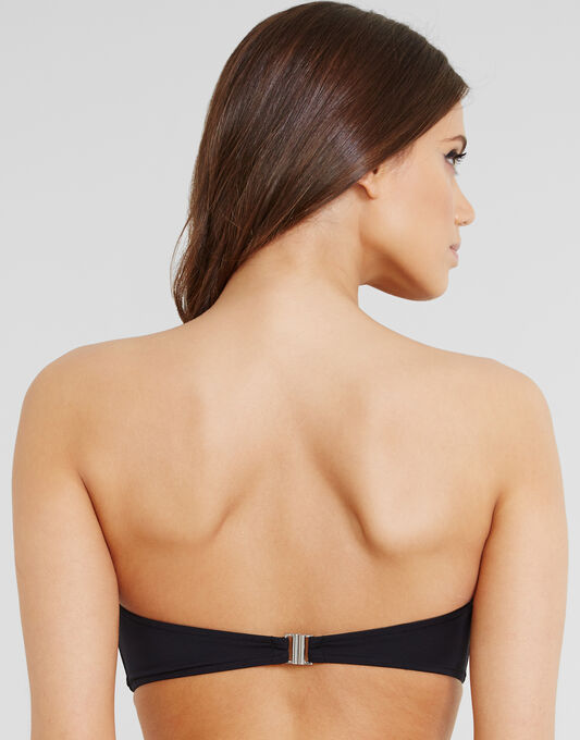 French Connection Poppy Mesh Bandeau Bikini Top