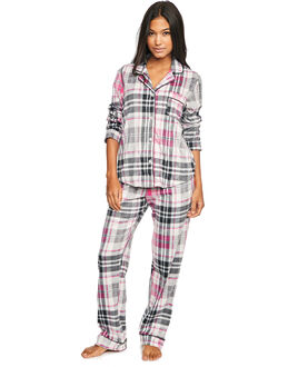 DKNY Folded Fleece Notch PJ Set