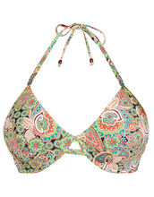 Woodstock Underwired Bandless Triangle Bikini Top