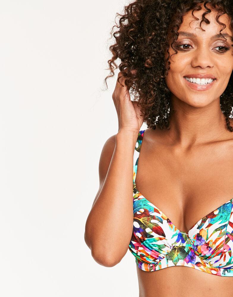 Margarita Island Underwired Gathered Full Cup Bikini Top 1208914