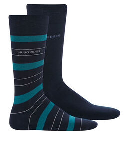 BOSS Black 2 Pack Stripe Sock