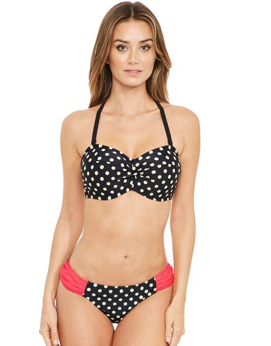 figleaves Tuscany Spot Underwired Twist Bandeau Bikini Top