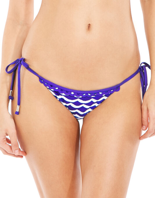 Seafolly Tidal Wave Brazilian Tie Side Brief
