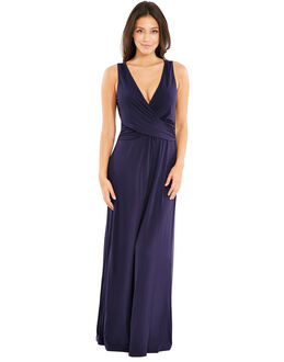 figleaves Bluebell D-G Sleeveless Wrap Maxi Dress