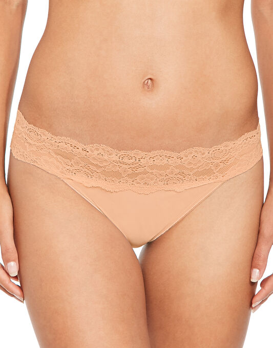 figleaves Microfibre And Lace 3 Pack Brazilian Brief
