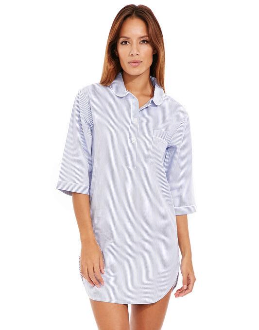 Cotton Nightwear Navy Stripe Nightshirt