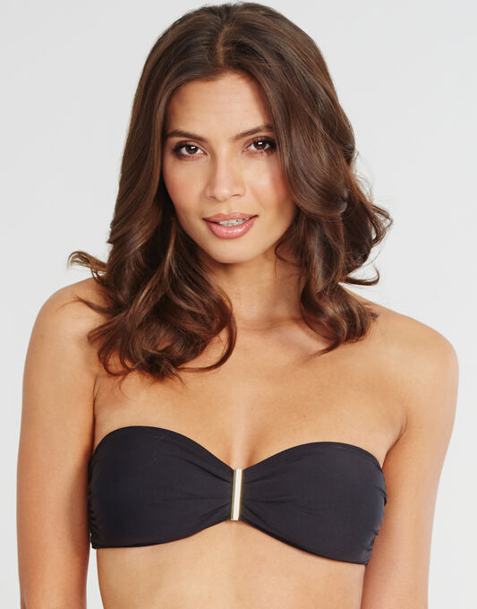 Jewel Soft Cup Bandeau Bikini Top