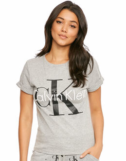 Calvin Klein Retro Short Sleeve Crew Neck Top