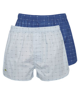 Lacoste Authentic Croc Print 2 Pack Woven Boxer