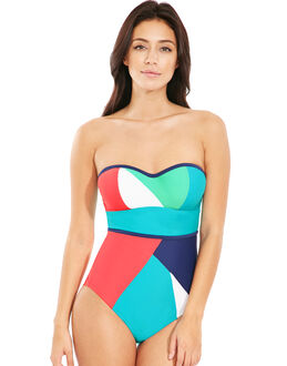 figleaves Cape Underwired Bandeau Tummy Control Swimsuit