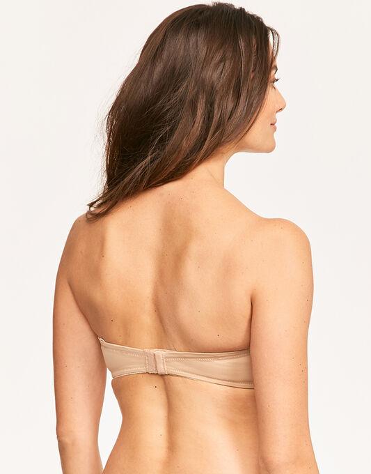Smoothing strapless bra