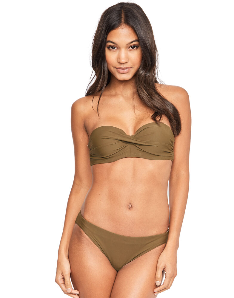 Solids Front Twist Structured Bandeau 1179018