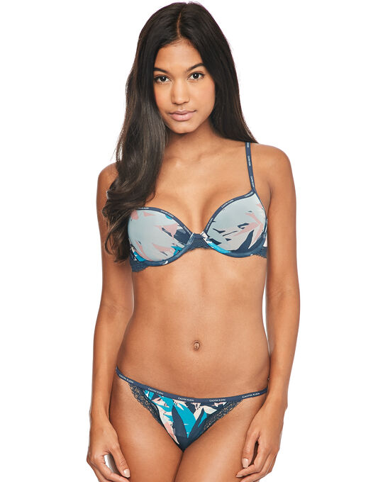 Calvin Klein Sheer Marquisette with Lace Demi Lightly Lined
