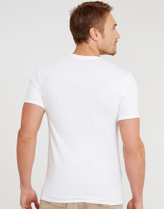 CK One Cotton Stretch 2 Pack V-Neck T-Shirt