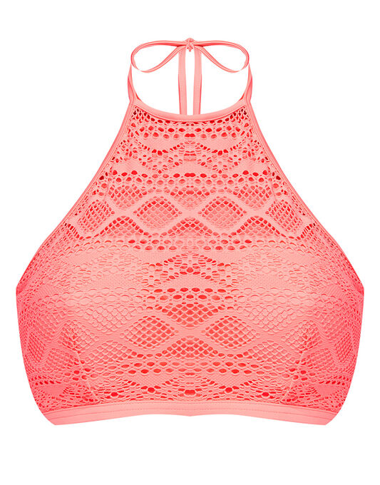 Freya Swim Sundance Underwired Padded Hi-Neck Crop Top