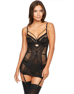 figleaves Temptation Fishnet And Lace Cami Suspender