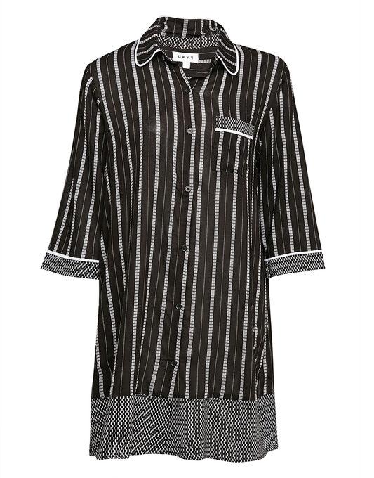 DKNY Mixed Company 3/4 Sleeve Sleepshirt