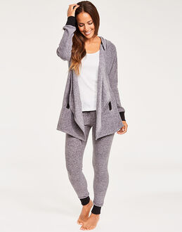 DKNY Stretch Loungers Hooded Cozy & Legging
