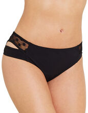 Icon Spot Mesh Split Side Bikini Brief