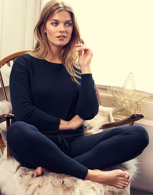 figleaves Bliss Cashmere Ribbed Legging