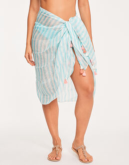 Seafolly Spice Temple Linen Block Stripe Sarong