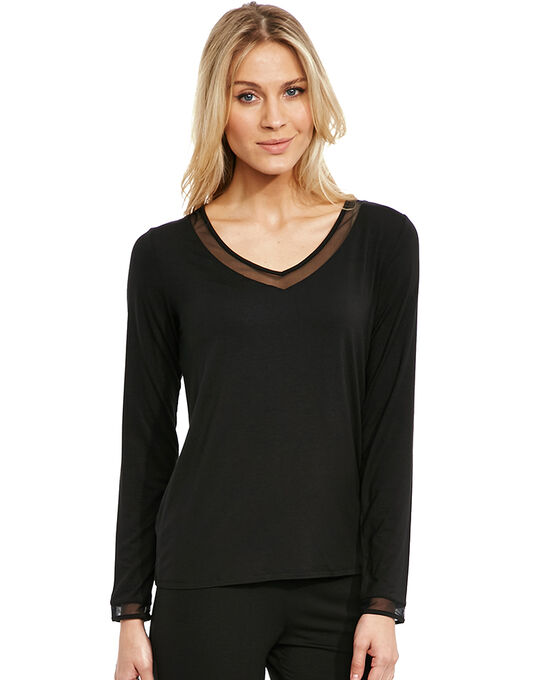 Calvin Klein Naked Touch Long Sleeve PJ Top