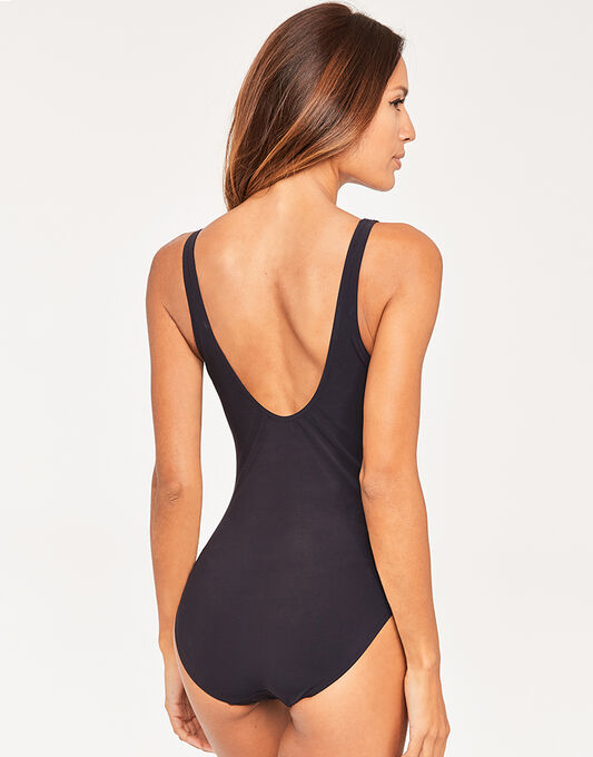 figleaves Icon Scoop Neck Soft Shaping Black Swimsuit