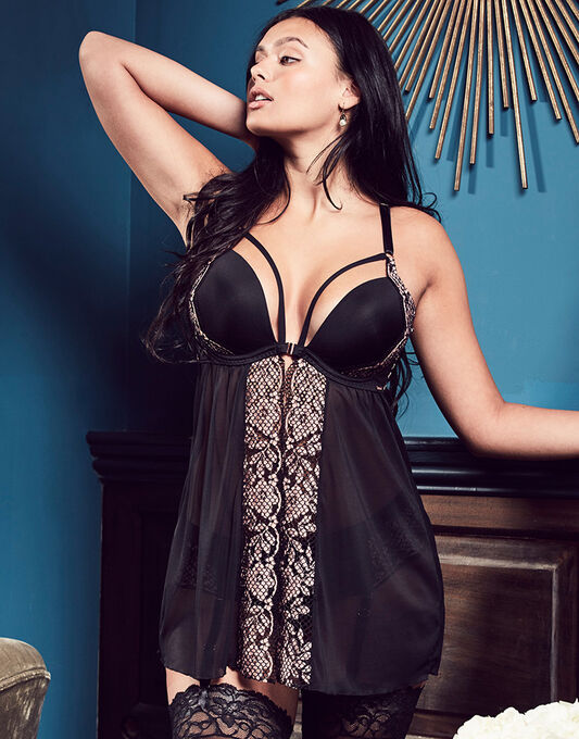 figleaves curve Pearl Moulded Babydoll