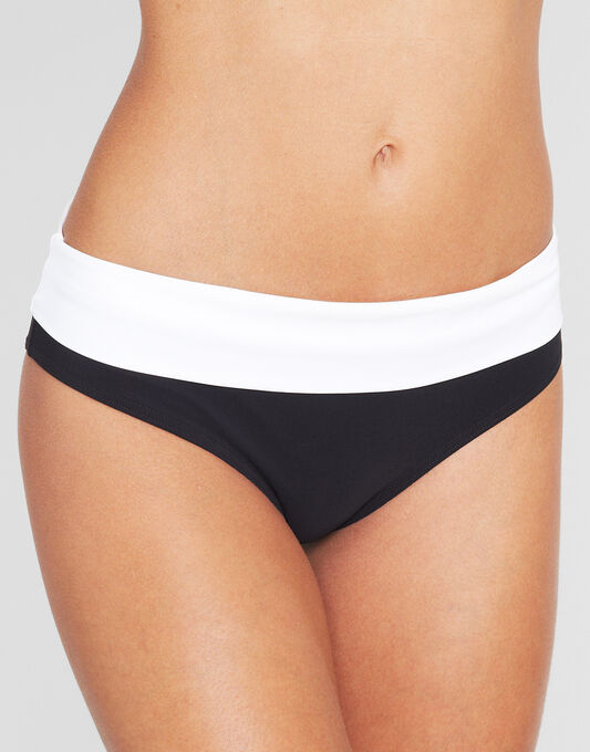 figleaves Monochrome Fold Bikini Brief