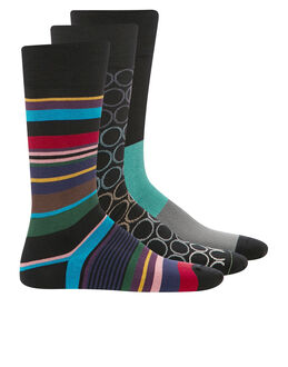 Paul Smith 3 Pack Stripe Socks