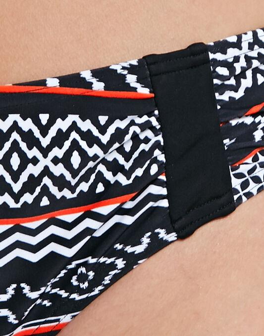 figleaves Tribe Stripe Ruched Bikini Brief