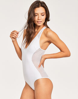 Stella McCartney Neoprene and Mesh One Piece Swimsuit