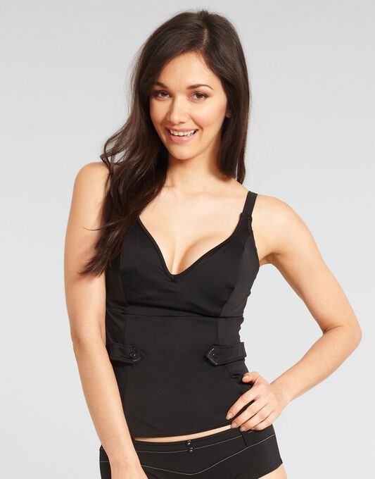 Fever Underwired Deep Plunge Tankini Top