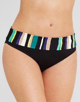figleaves Sorrento Stripe Fold Bikini Brief