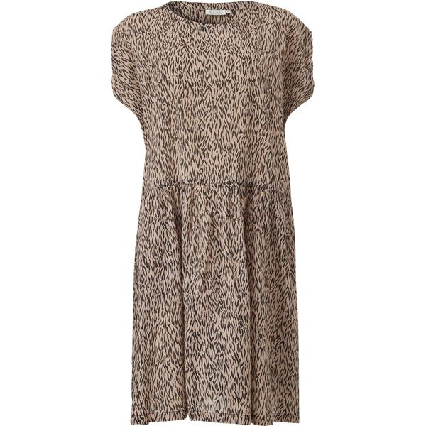 OLIVETTE DRESS, TAN, hi-res