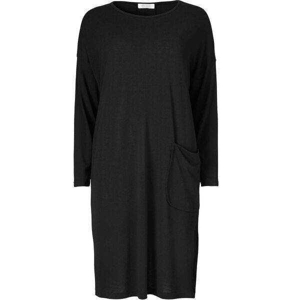 NEBI DRESS, BLACK, hi-res