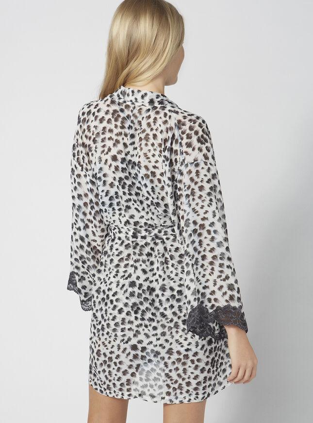Anika animal chiffon robe