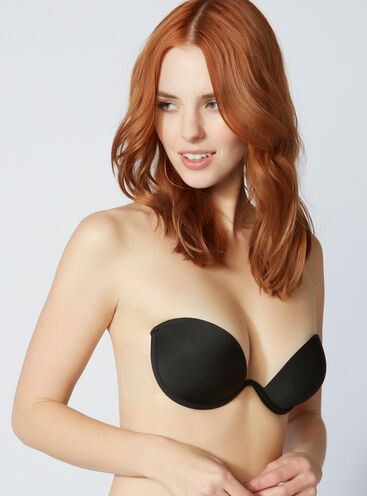 Padded backless strapless bra