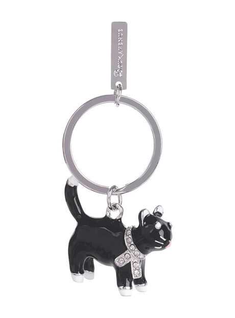 Marie Lucky Black Cat Keyring