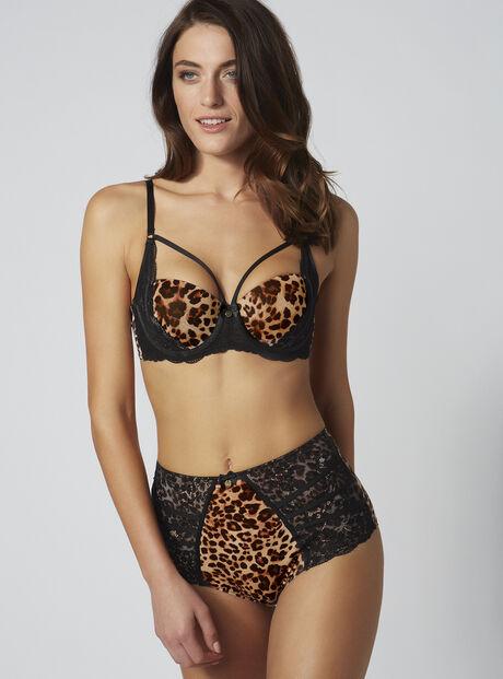 Mariette leopard high waisted briefs
