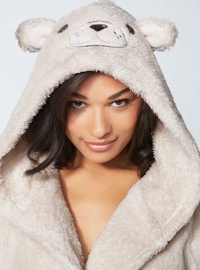 Eddie teddy hooded robe