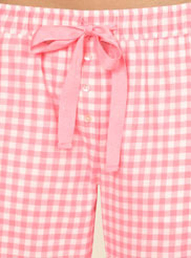 Romance tee and gingham pants pyjamas