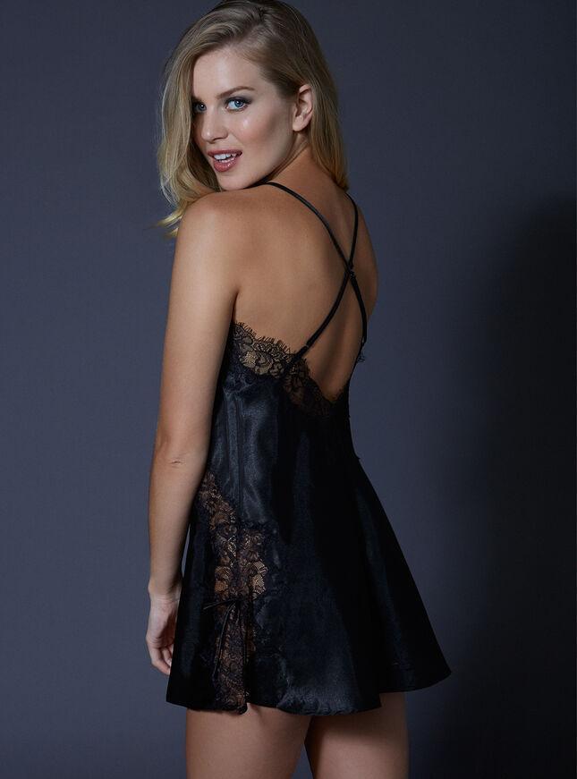 Melanie satin and lace chemise