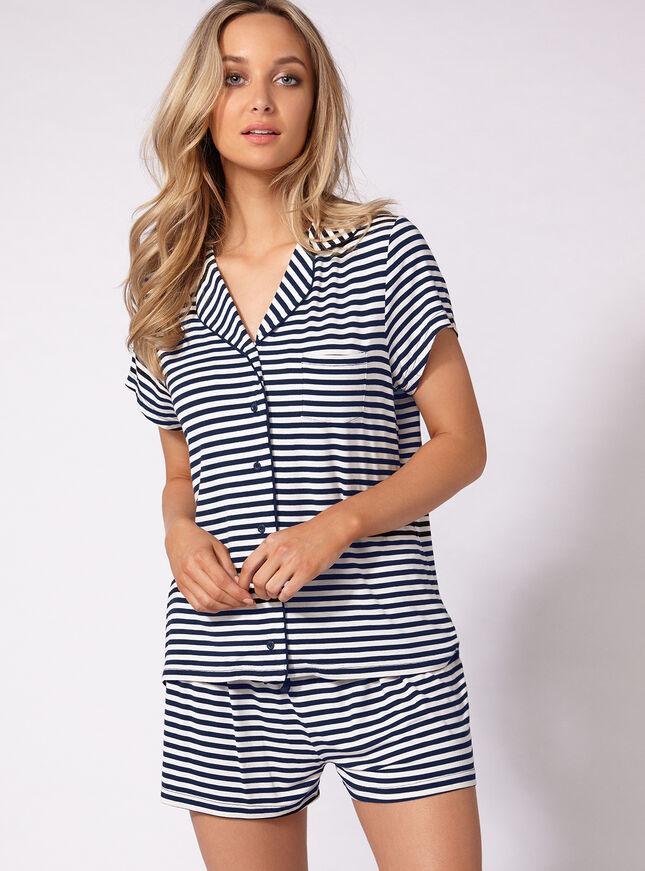 Jersey stripey pyjama set