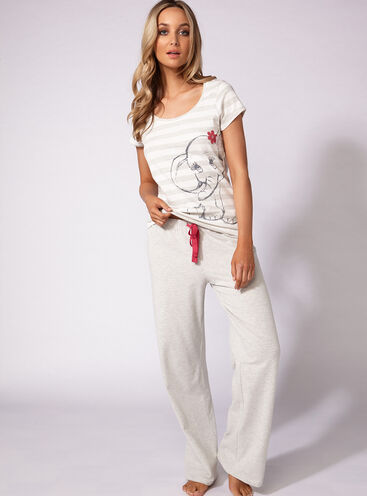 Glitter elephant tee and pants set